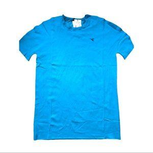 Diadora XXL soft made in Italy blue Short sleeve